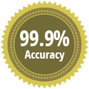 99.9% accuracy rate